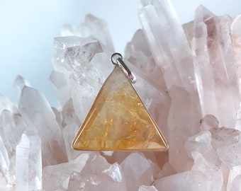 Citrine - Marcel Vogel Pendant - set in Sterling Silver - A Grade !  Powerful