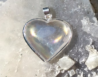 Angel Aura Heart Pendant - Pure Joyful Energy- Wrapped inSterling Silver  - A Grade !  Beautiful