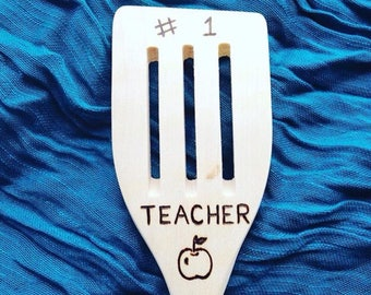 Teacher Gift Wooden Spoon  teacher appreciation, #1 best teacher, number one teacher, coach gift, music teacher, back to school teacher gift