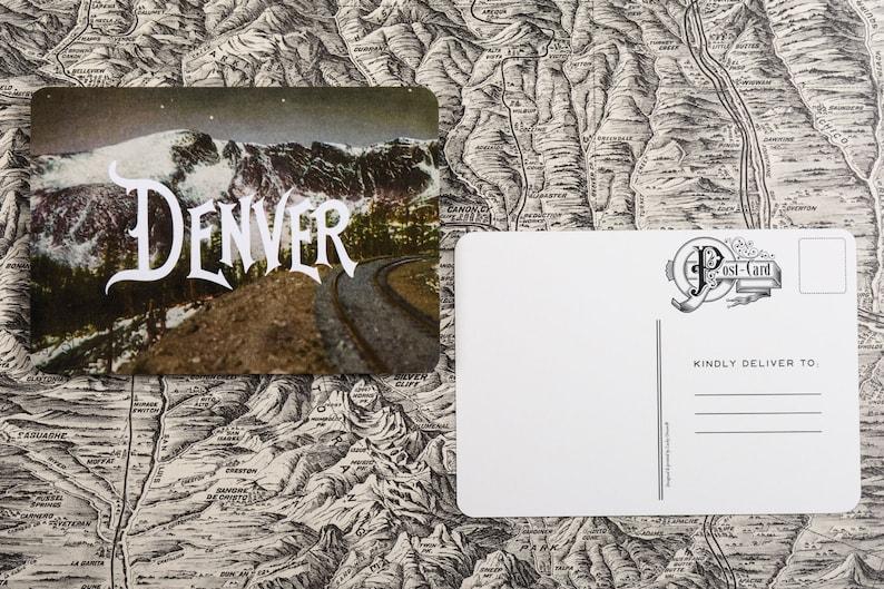 Moffat Road Denver Vintage Postcard