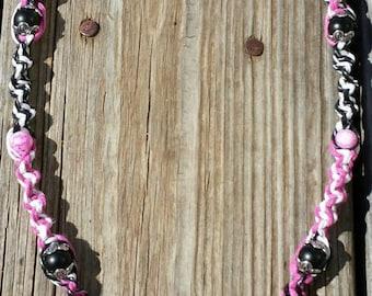 Tech n9ne necklace etsy pink psycho swirl strange music hemp necklace aloadofball Gallery