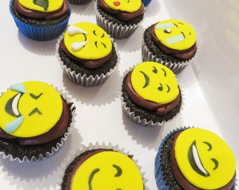 Emoji Cupcake Toppers Great For Birthday Party Themes Gatherings And Fun With The Pals