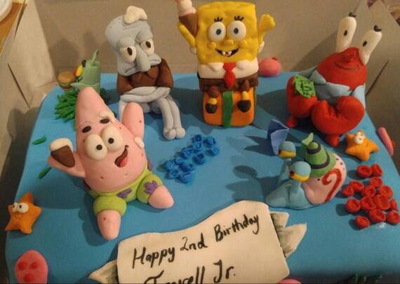 Sponge Bob Patrick Cupcake Toppers Fête D/'Anniversaire Décoration Gâteau Picks