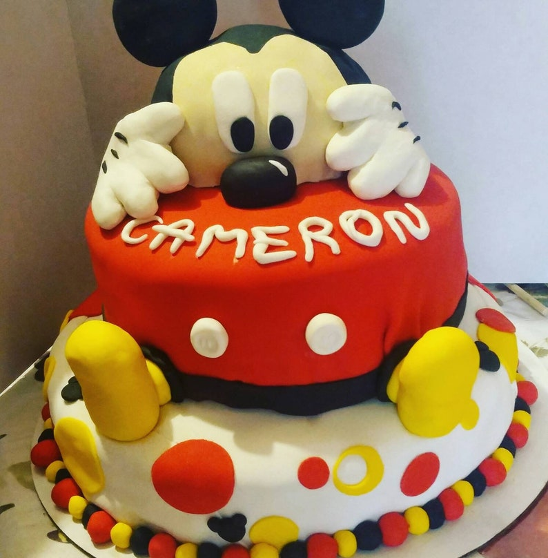 Mickey Cake Topper Comes With Mickeys Head Hands And