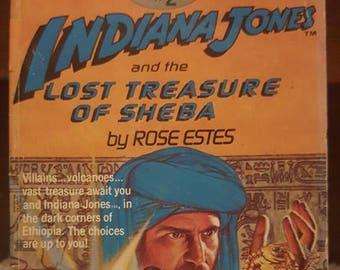Indiana Jones book- Lost Treasure of Sheba- Vintage