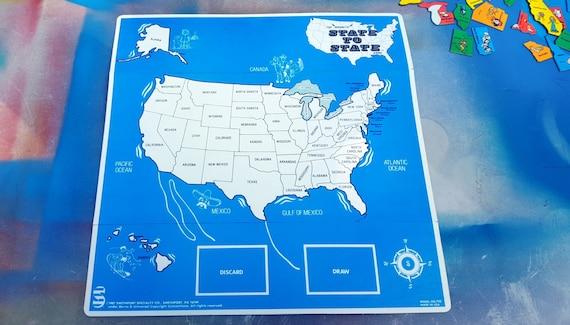 Vintage Game Board Vintage Game United States Map 80s Game | Etsy