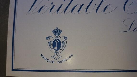 Vintage Ephemera 1920s Label Art Deco French Soap Label Vintage Wall Decor Savon de beaute COPYRIS French Label Vintage Label