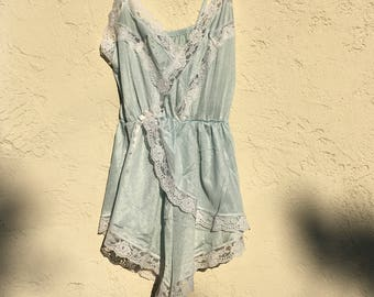 baby blue lace teddy (xs)