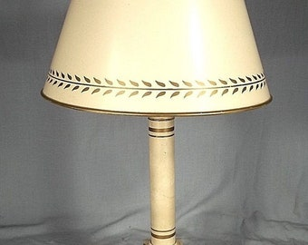 Vintage Mid Century Classical Decorated French Tolewrae Lamp