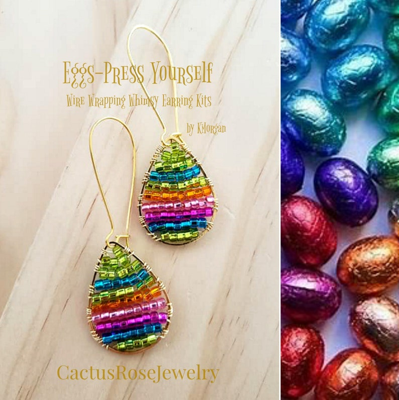 Eggs-Press Yourself Wire Wrapping Whimsy Earring Kits