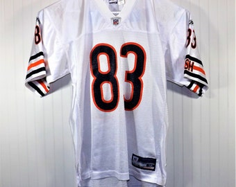 Vintage David Terrell Chicago Bears Jersey Size M White Road NFL  83 Reebok 062790ab1