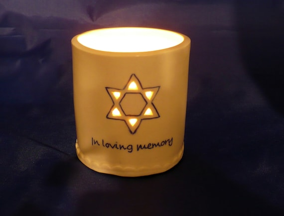 Yahrzeit Candle Holder Memorial Candle Holder Sympathy Gift Etsy