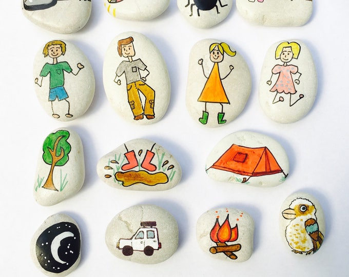 Story Stones -  camping