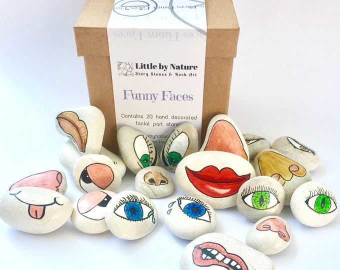 Funny faces pebble mix