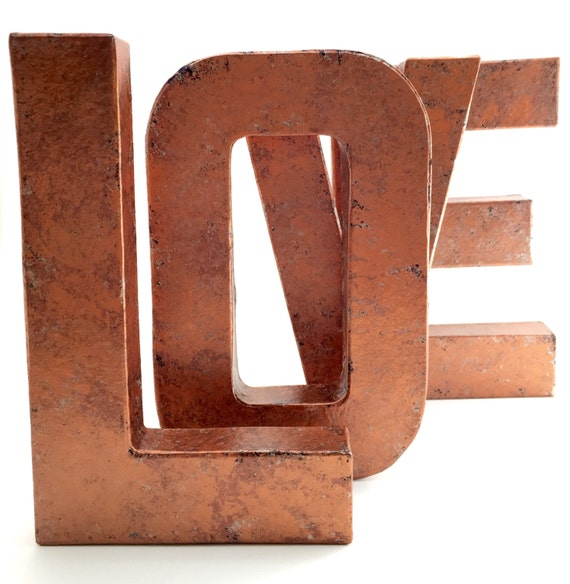 Faux Metal Letters Copper Hammered Copper Farmhouse Etsy