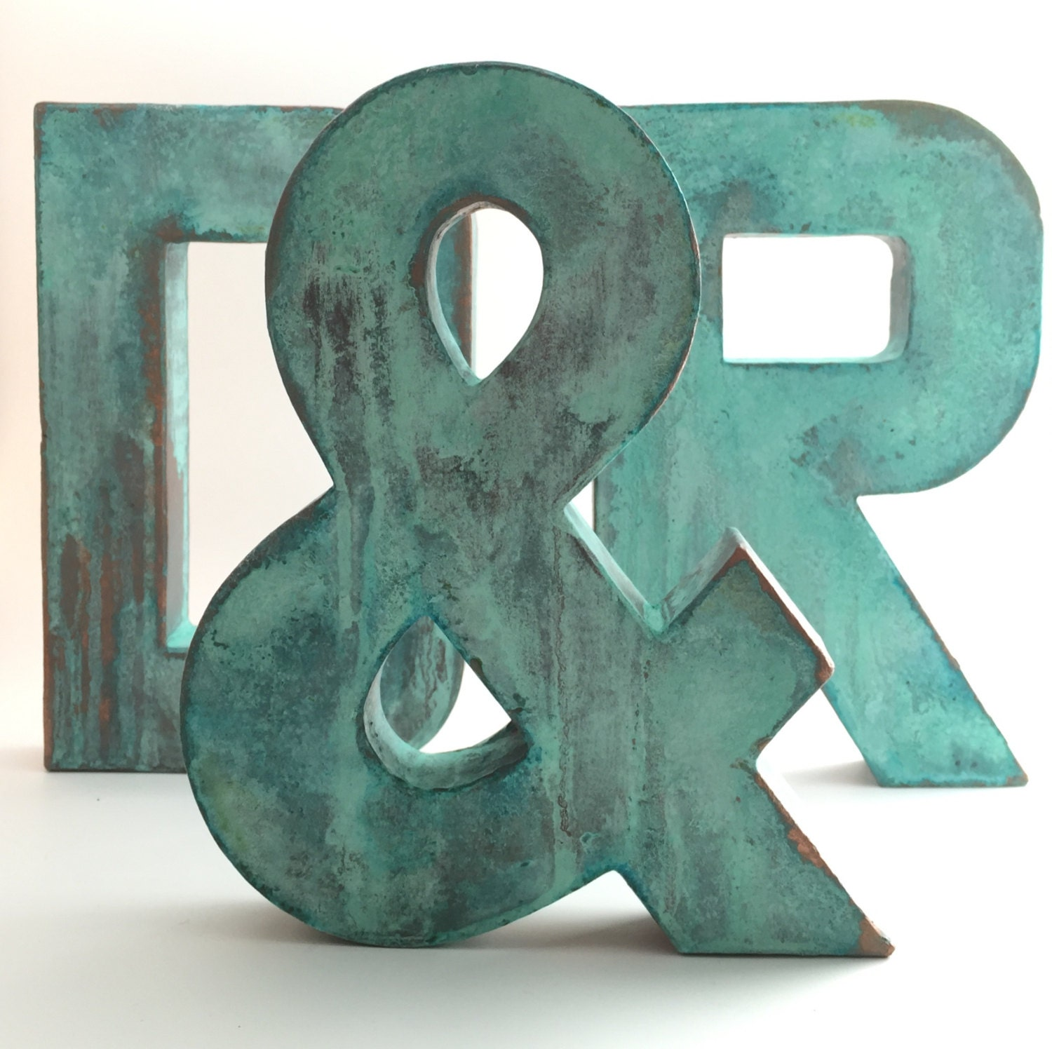Faux Metal Letters Oxidized Copper Metal Farmhouse