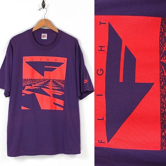 e91d71b98a5a4a Vintage Flight Nike T-shirt 90s Nike Grey Tag T-shirt