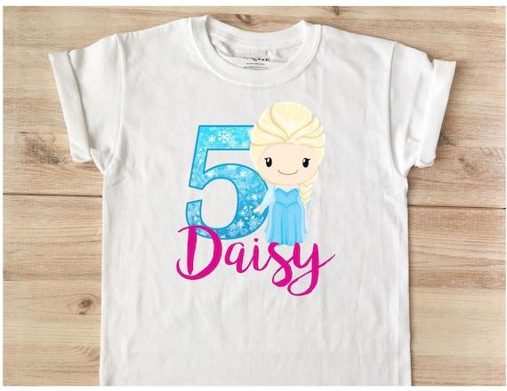 Frozen Birthday T Shirt Personalized Elsa Anna Disney Custom Add Name