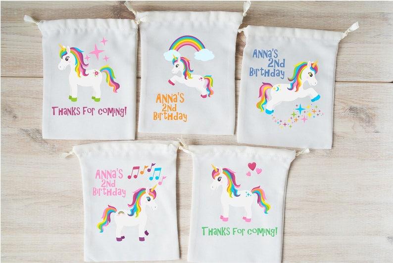Unicorn Favor Bags Party Favors Personalized