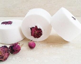 Ylang Ylang Geranium   All Natural   Lux Bath Bombs   Dead Sea Salt   Epsom Salt   Coconut Milk   Moroccan Argan Oil