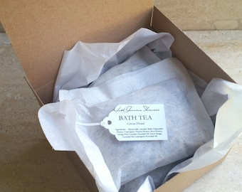 Bath Salts & Tea Sampler | Himalayan Neroli | Rosehip Coconut | Citrus Lavender| Lavender Oats and Coconut Milk | Peppermint Eucalyptus