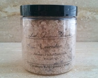 Lavender Bath Salts   All Natural   Dead Sea Salt   Epsom Salt   Colloidal Oatmeal   Aromatherapy
