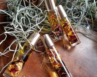 Lip Oil | Rose & Hibiscus | 24k edible gold