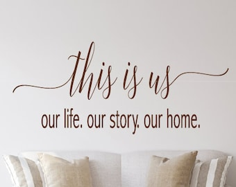 44 Colors FAMILY is where our story Vinyl Wall Home Decor Free /& Fast Shipping