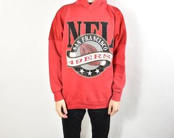 0b32dbca2 Vintage Red San Francisco 49ers Hoodie Sweatshirt
