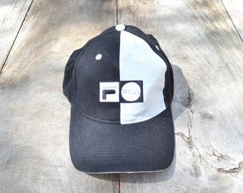 16f0ddb14e2 Vintage Black and Grey FILA Baseball Hat