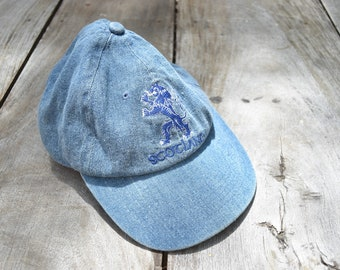 e85f2a4cb27 Vintage Blue Denim Scotland Strapback Hat