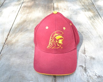 super popular 520ac 4f0b5 Vintage Red USC Trojans Baseball Hat