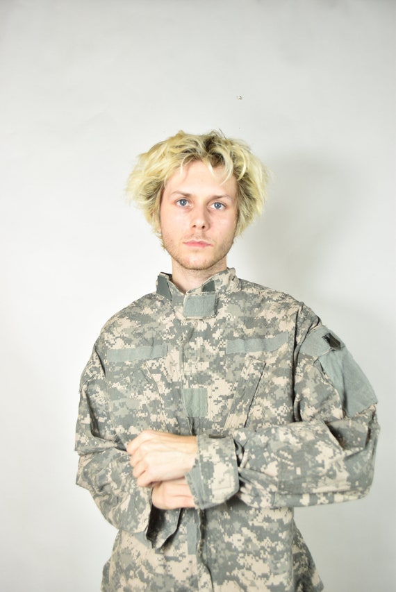 Vintage Green American Camouflage Military Jacket - image 4