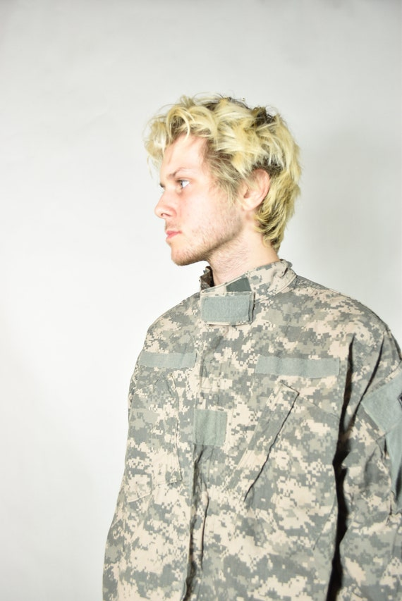 Vintage Green American Camouflage Military Jacket - image 3