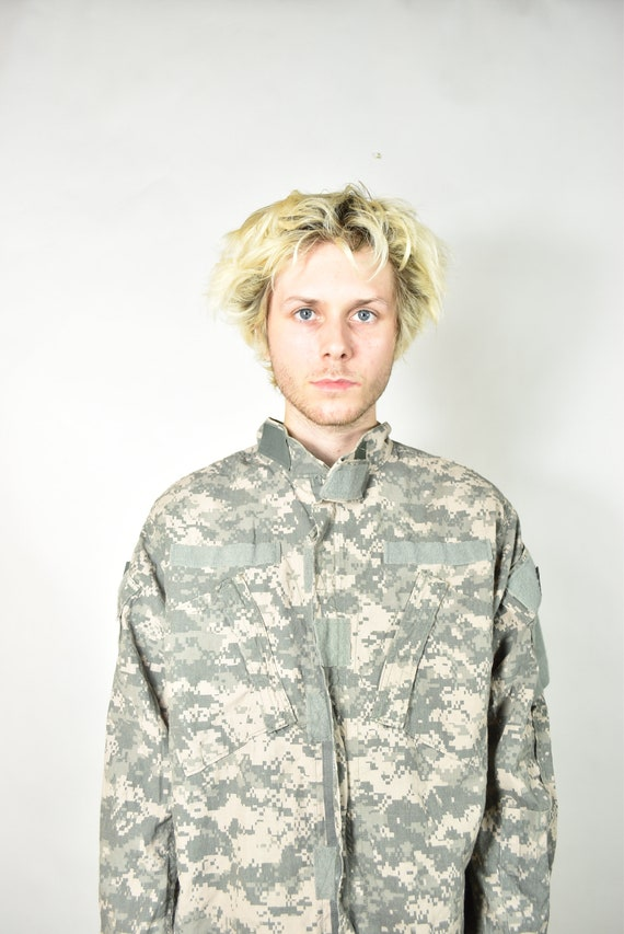 Vintage Green American Camouflage Military Jacket - image 2
