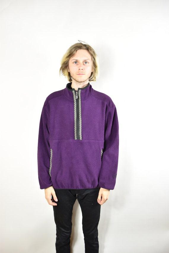 7293318b2 Vintage Purple North Face Half Zip Fleece Sweater