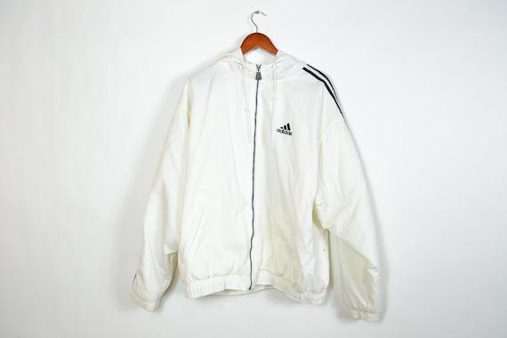 Vintage White Long sleeve Puffy Adidas Jacket