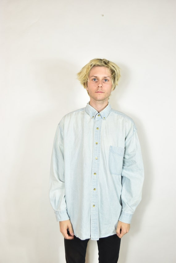 Vintage Light Blue Denim Oxford Shirt