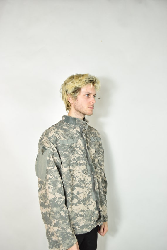 Vintage Green American Camouflage Military Jacket - image 5