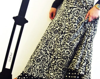 Two Layers Retro Maxi Wrap Skirt