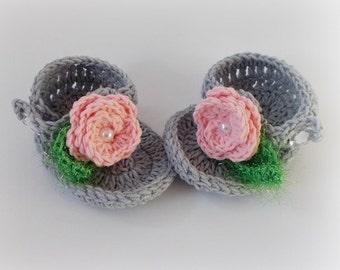 Gray Flip Flops, Baby flip flops, Baby Sandals, Gtay sandals, Crochet Baby Flip Flops, Newborn sandles, Crochet Baby Sandals, Girl Sandles