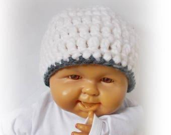 Crochet baby hat Hospital newborn hat White baby hat Crochet girl hat Crochet boy hat Crochet toddler hat, Newborn hat, baby hat knit hat