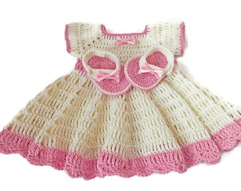 27ddedad1 Items similar to Crochet baby dress