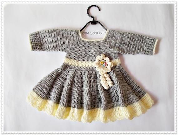Baby Kleidung stricken häkeln Baby Kleid Neugeborenen-Kleid | Etsy