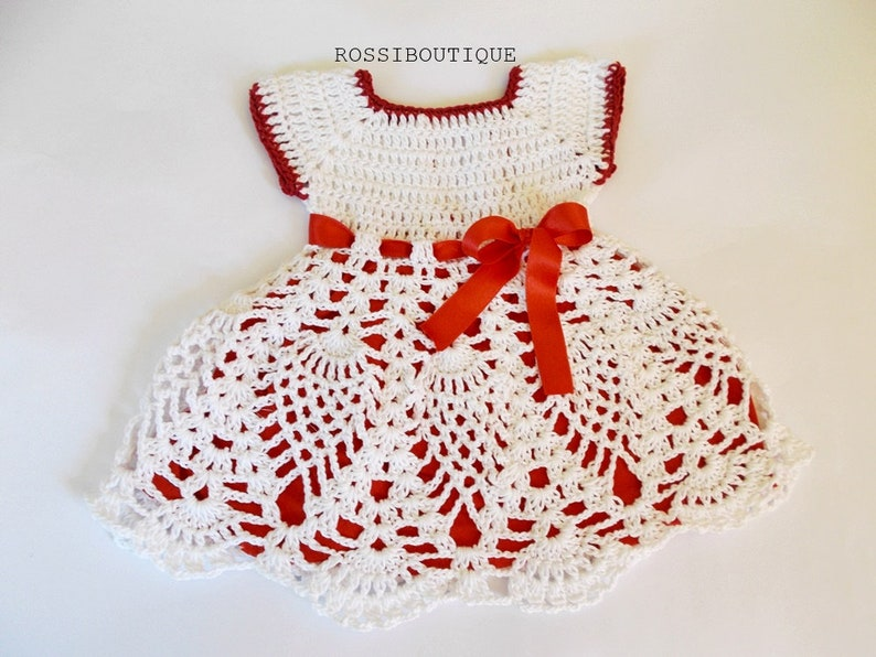 Crochet Dress Baby Outfit Coming Home Newborn Dresses Etsy