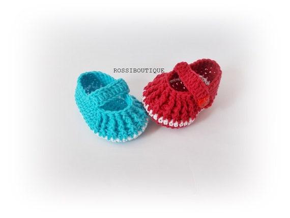 Häkeln Baby Mary Janes Schuhe Taufe Segen Babyschuhe Häkeln Etsy