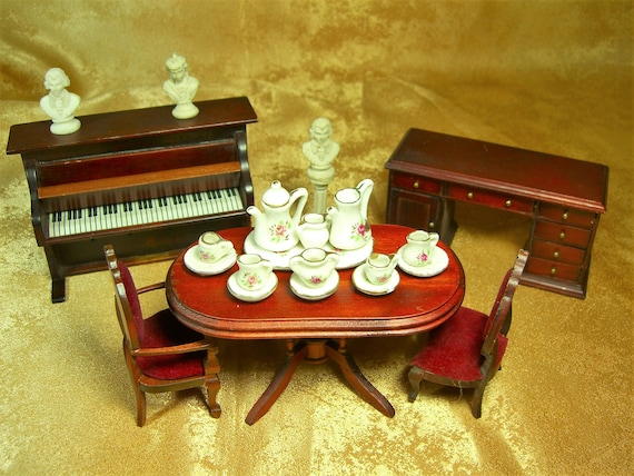 Doll House Furniture Antique Baroque Victorian Style Hand Etsy