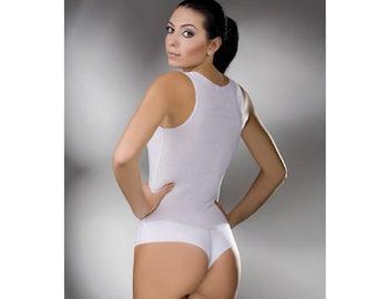 New SLEEVELESS COTTON BODYSUIT Leotard Brazilian Style Tank Top Body Suit Shapewear lingerie