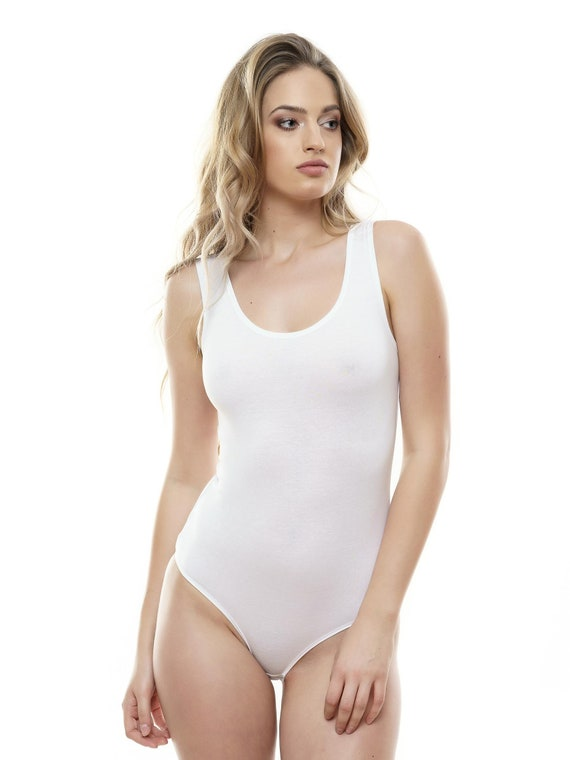 Women Leotard Cotton Bodysuit Sleeveless Bodysuit Women Tank Outfit Yoga  Dance wear Body Suit  Shirt Top Blouse thong style Lingerie