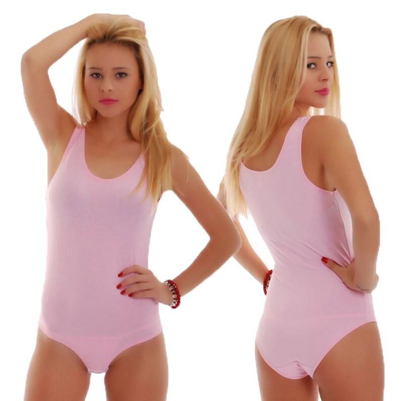Women Bodysuit Sleeveless Tank Top Bodysuit Ballet Bodie  07ededd7f